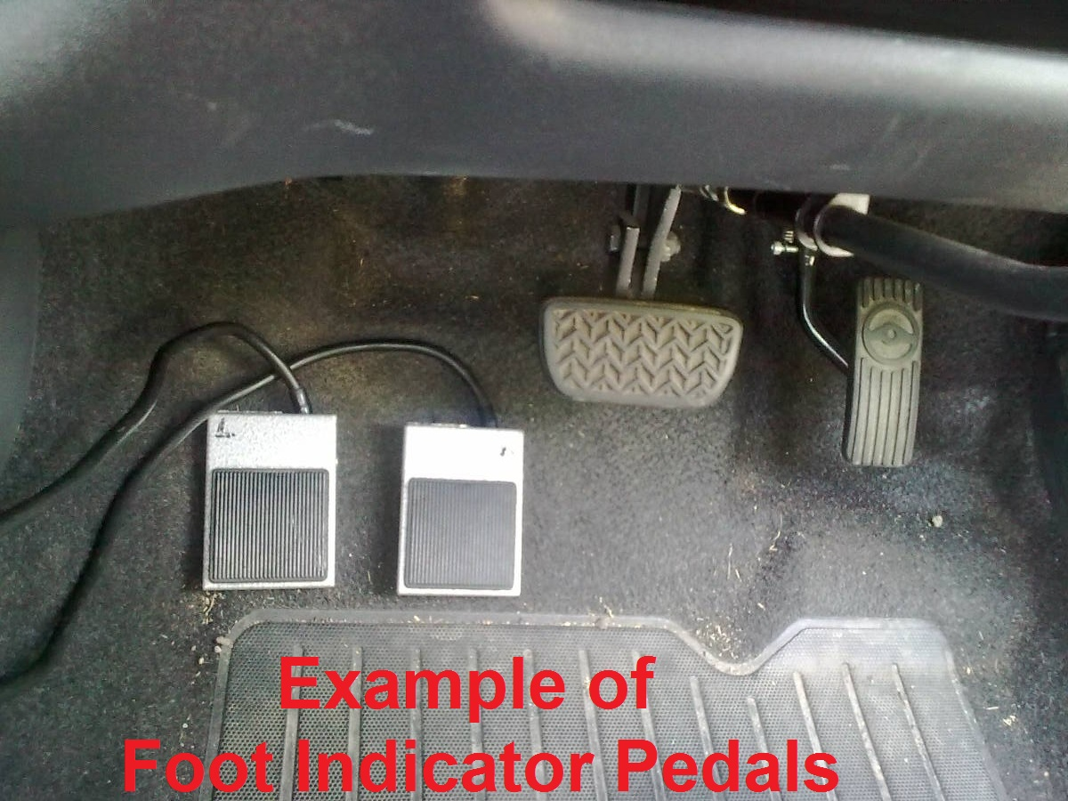 Example of Foot Pedal Indicators